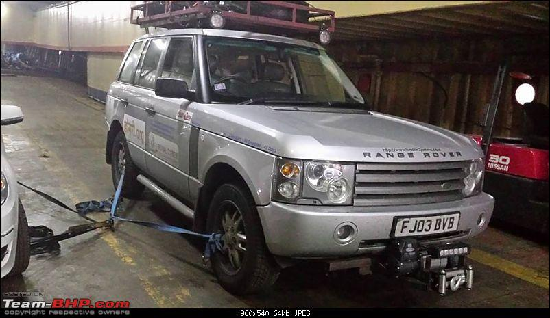 London to Jammu: With a Range Rover-dhannoparkedandchained2.jpg