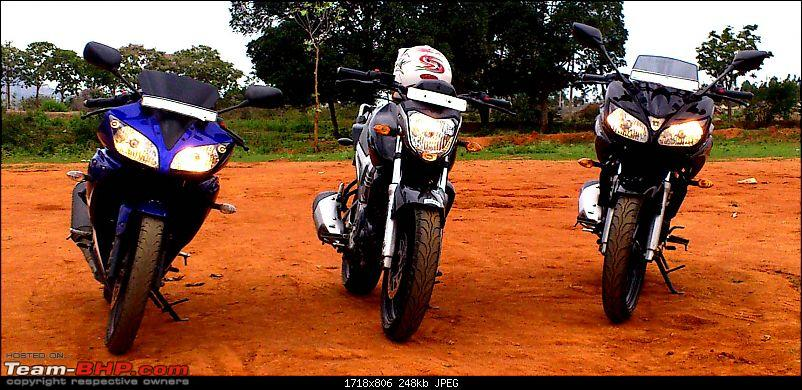 Bangalore to Chikmagalur - 3 Yamahas race to the Young Girl's Town-bikes1.jpg