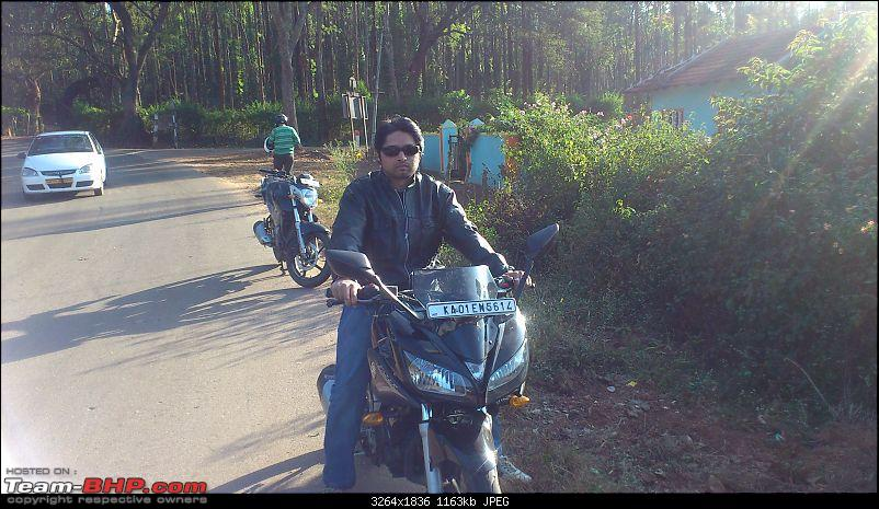 Bangalore to Chikmagalur - 3 Yamahas race to the Young Girl's Town-ride-hills-sudhi.jpg