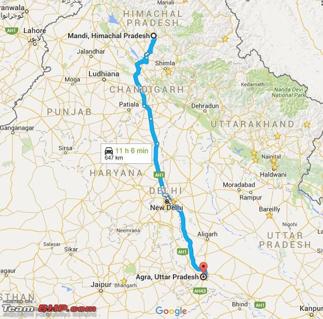 Name:  Mandi to Agra.jpg Views: 21411 Size:  201.5 KB