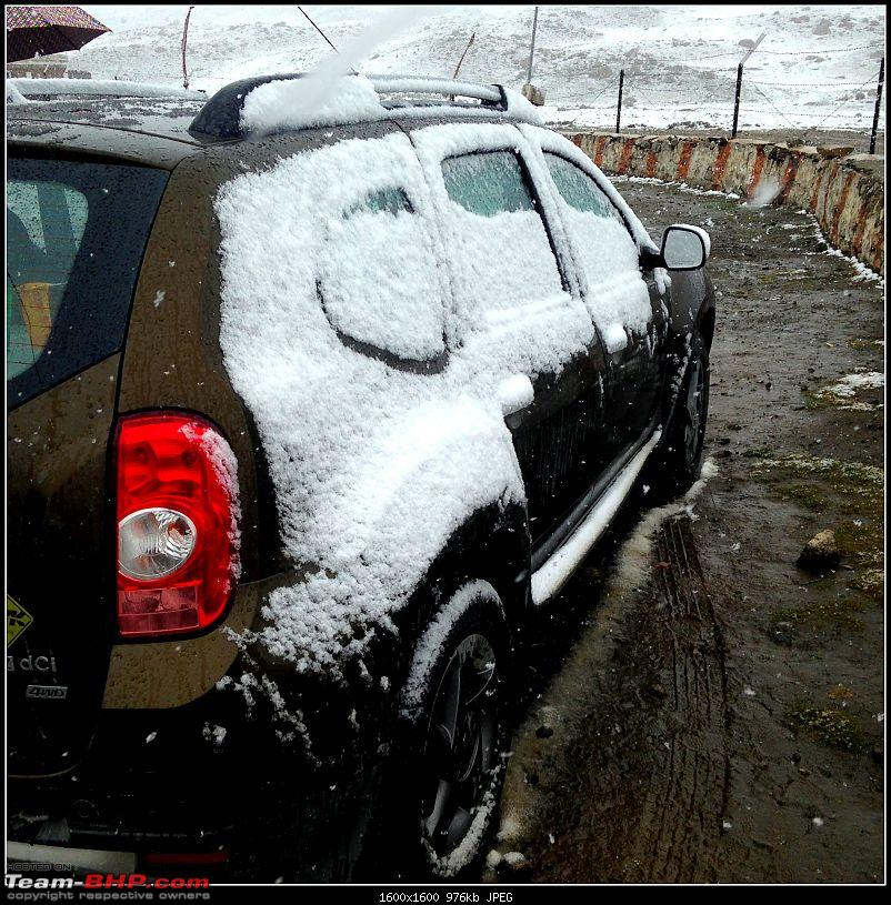 Kolkata to Ladakh & Siachen in a Duster AWD-n-pullu-snow.jpg