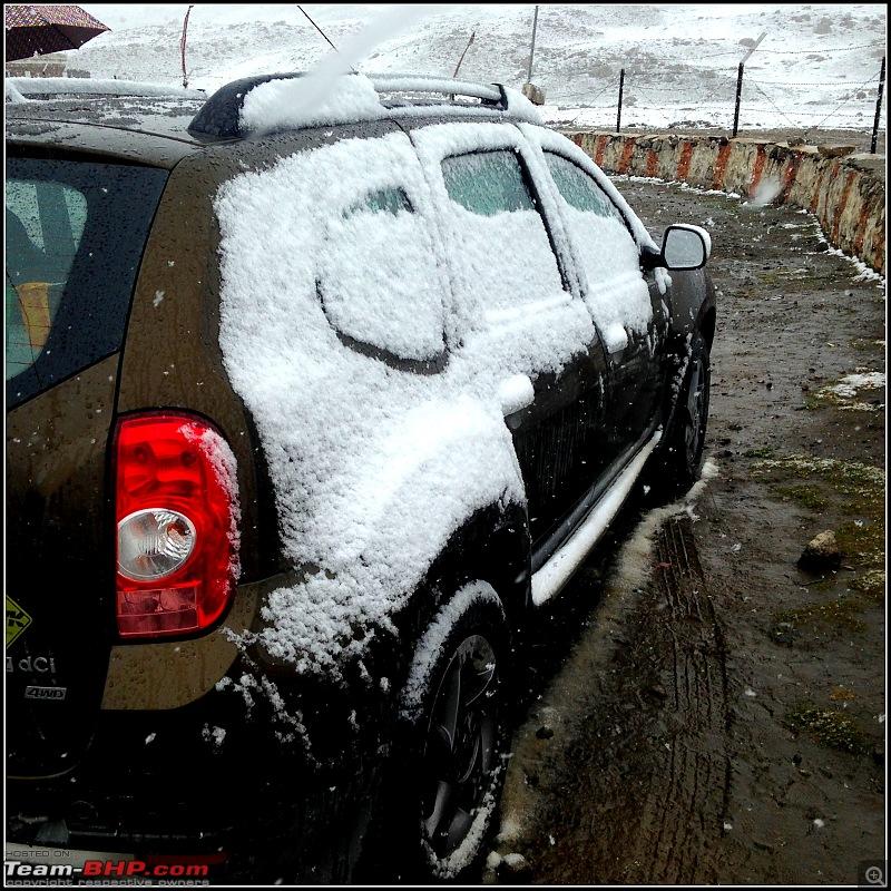 Kolkata to Ladakh & Siachen in a Duster AWD-n-pullu-snow.jpg
