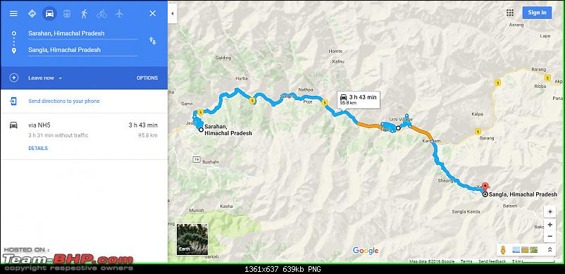 Unforgettable Himachal: Chandigarh - Rampur - Sarahan - Chitkul - Kalpa - Nako in a Maruti 800-route-map-2-day-2.png