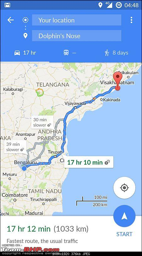 The South East Expedition - Solo Drive in a Duster from Bangalore –> Kolkata-map_1.jpg