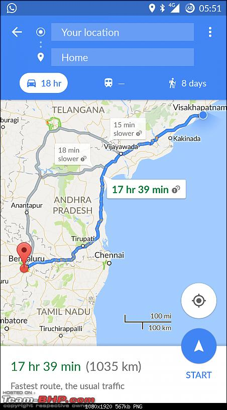 The South East Expedition - Solo Drive in a Duster from Bangalore –> Kolkata-return-map2.png