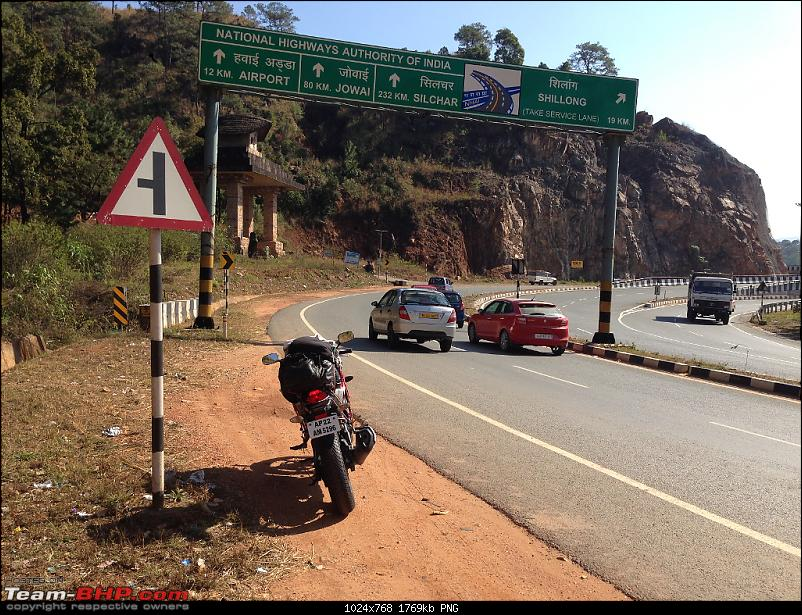 Hyderabad to Shillong on a Honda CBR250-onthewatoshillonga.png