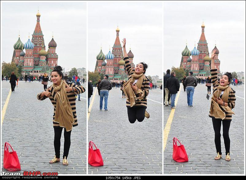 London to Jammu: With a Range Rover-aarti_jumping_in_front_kremlin_moscow1050x754.jpg