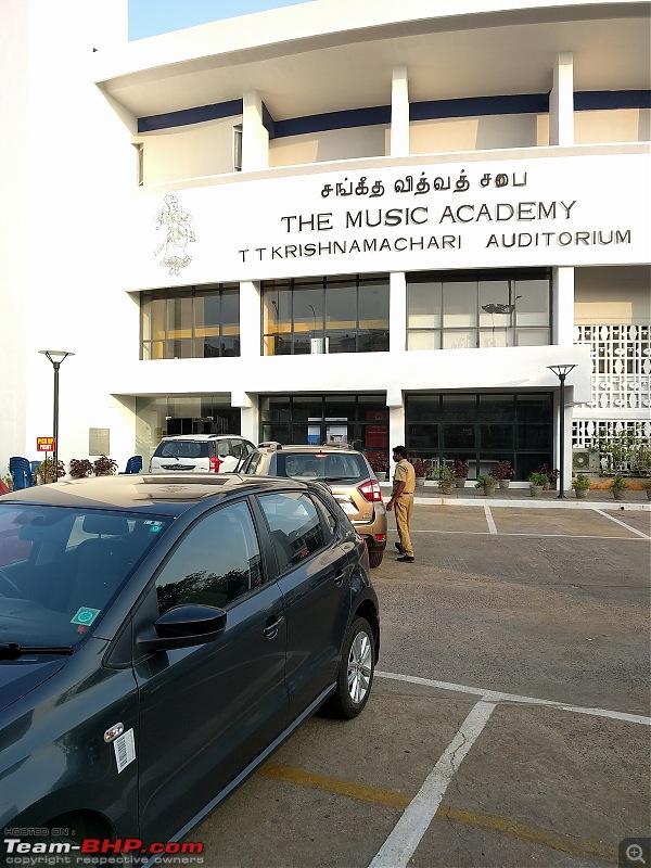 Polo GT TSI: Mumbai to Chennai during the Margazhi music season-academy-parking.jpg