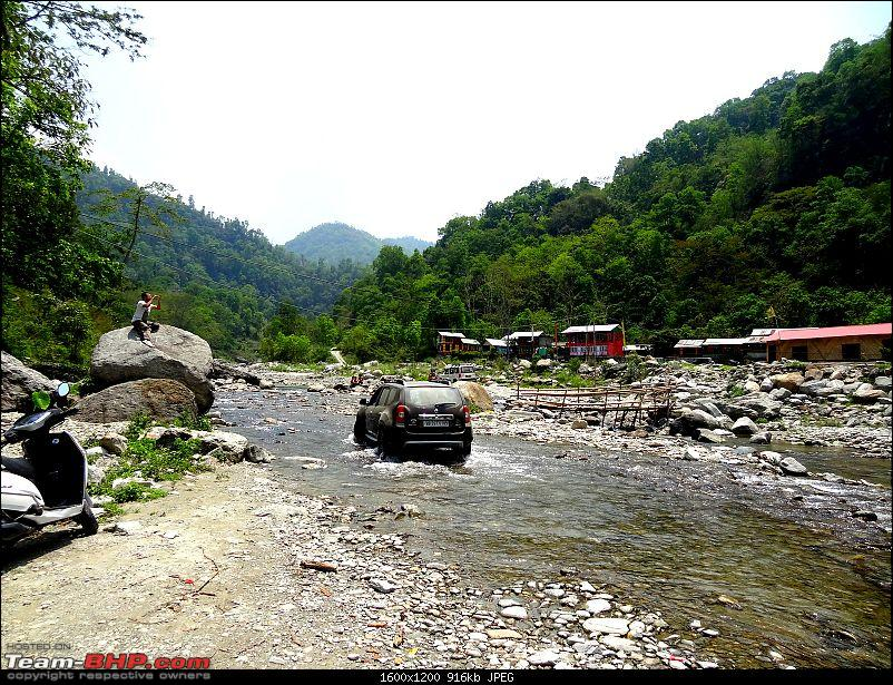 Duster AWD Twins drive to Sikkim-river-crossing.jpg