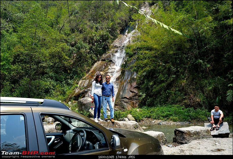 Duster AWD Twins drive to Sikkim-waterfall-enroute-rongli.jpg