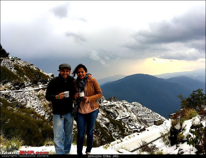 Duster AWD Twins drive to Sikkim-ms-enjoying-tea.jpg