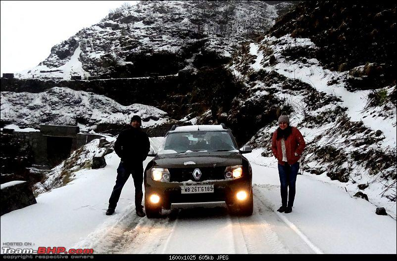 Duster AWD Twins drive to Sikkim-snow-me-meg.jpg