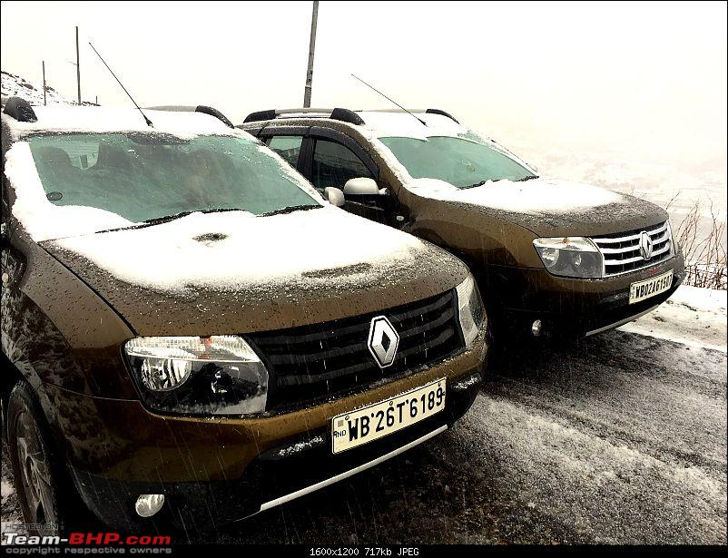 Duster AWD Twins drive to Sikkim-twins-snow.jpg