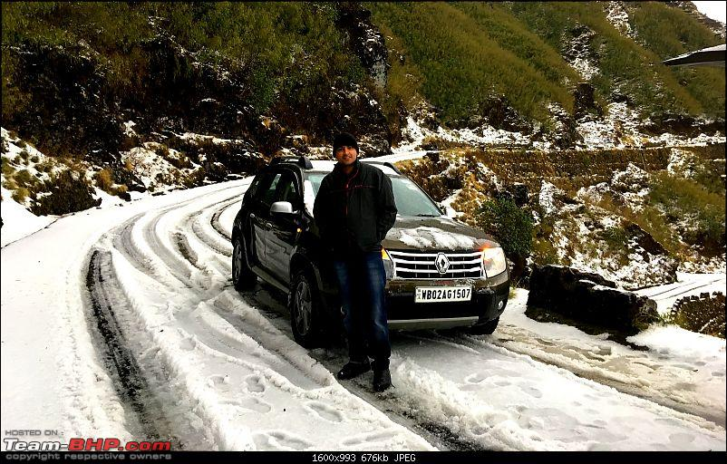 Duster AWD Twins drive to Sikkim-me-thambi.jpg