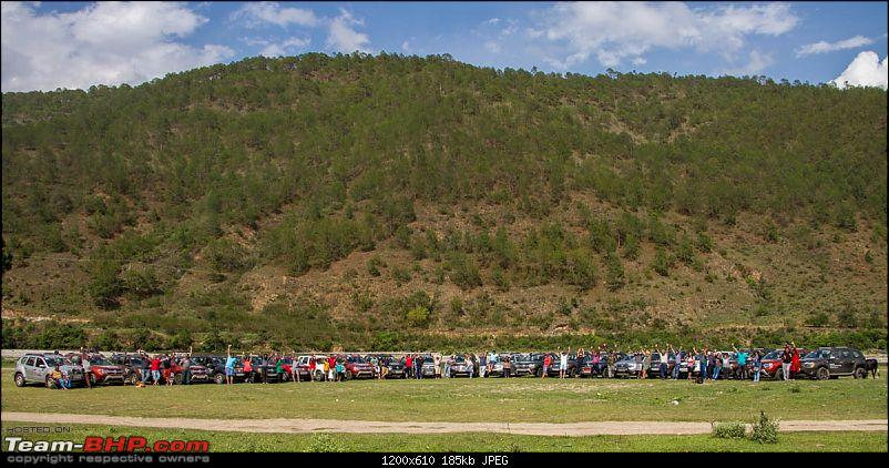 Duster AWD Twins drive to Sikkim-god-participants-their-cars-punakha.jpg