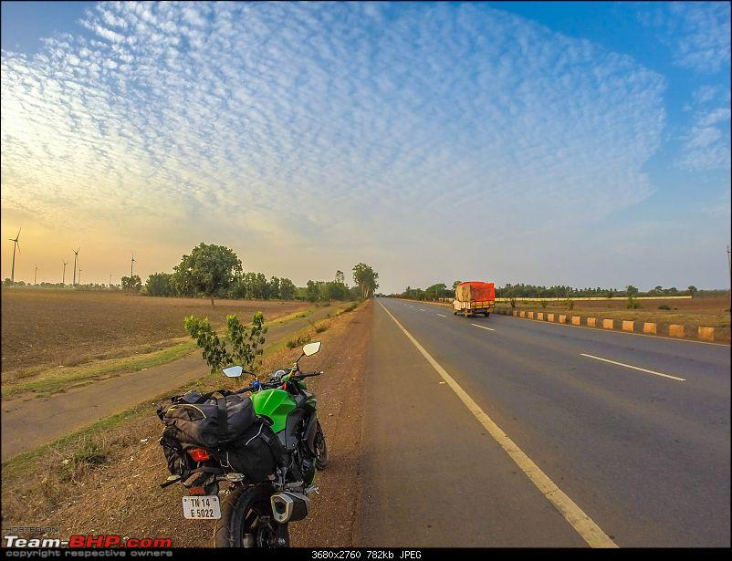 Chennai - Goa on a Kawasaki Z250-gopro-morning-side-view.jpg