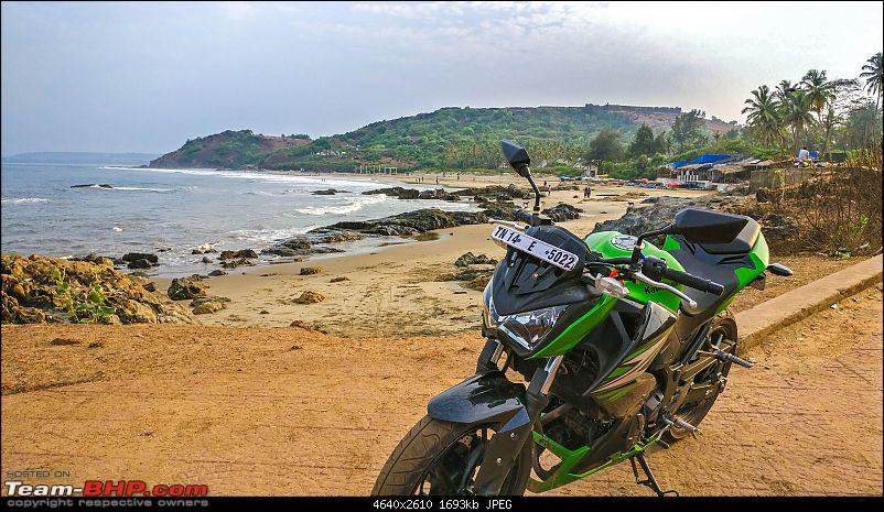 Chennai - Goa on a Kawasaki Z250-vagator-bike-front-side.jpg