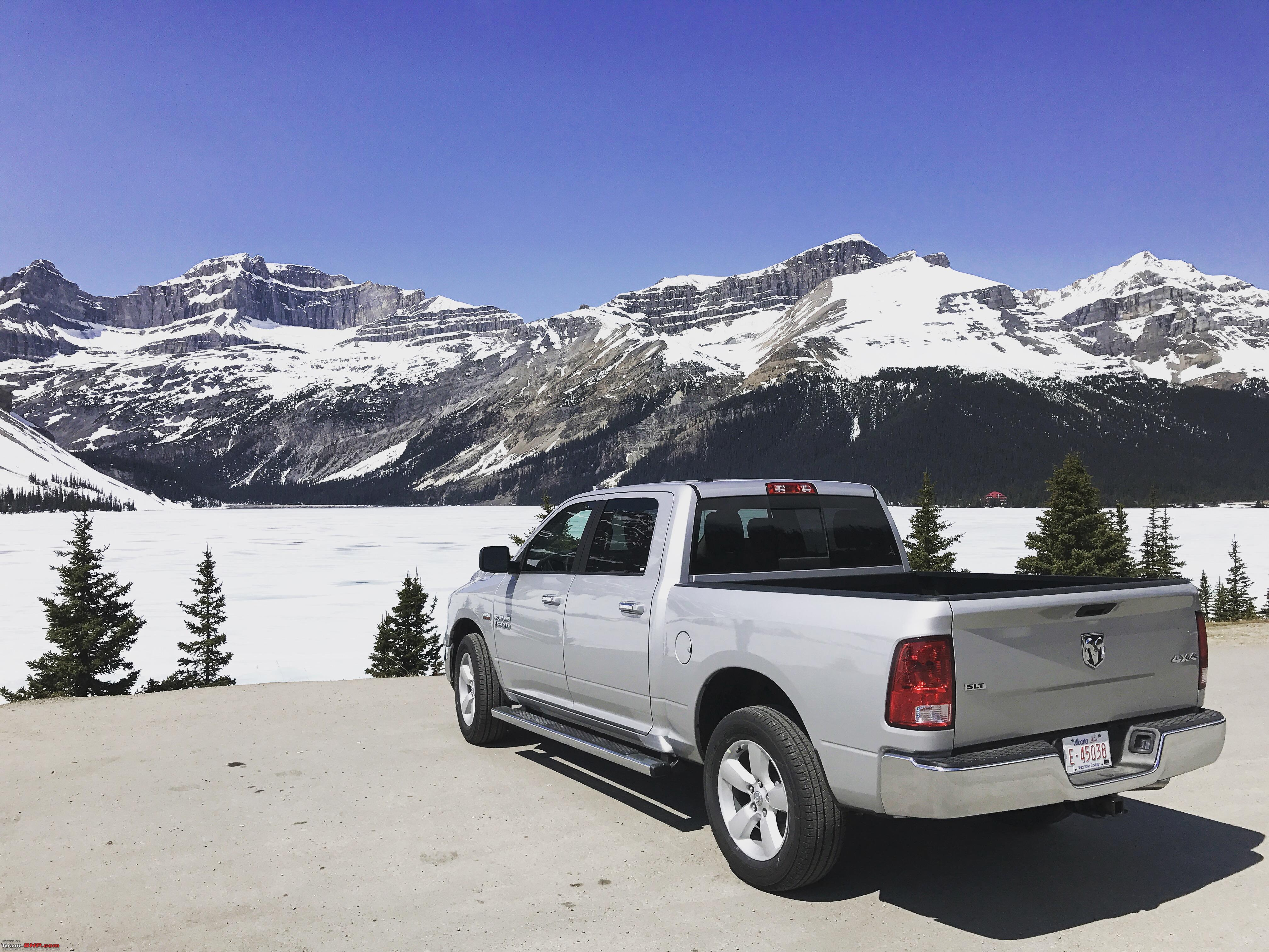 video driving through the canadian rockies in a dodge ram. Black Bedroom Furniture Sets. Home Design Ideas