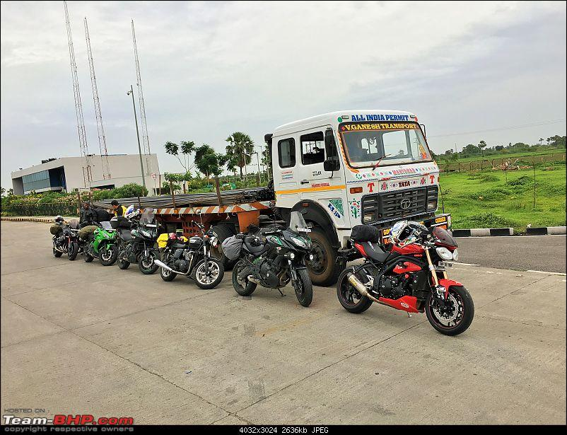Kawasakis & Triumphs ride to Vizag & Araku Valley - Photoblog of an 1800 km ride-first-lineup.jpg