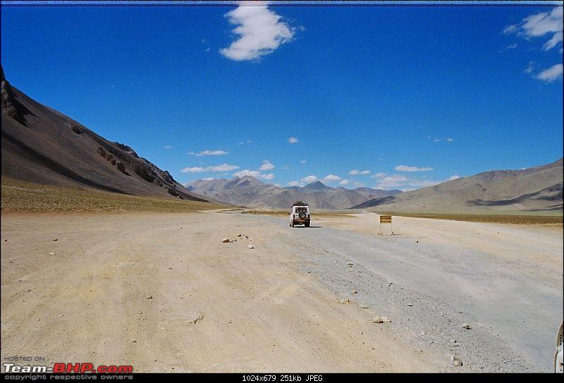 One more tribute to Leh this season...-blue-sky.jpg We passed through hills, loops, loose sand planes and some of the high passes including the second highest motorable pass in the world to reach Leh that day evening. We had not booked any accommodation in advance in Leh and went to Jigmeet guest house to see if we could get a room. Jigmeet was full and the next available vacancy was in Aug. The person at Jigmeet (soory, I don't remember his name) was very helpful and he directed us to his cousin's hotel The Auspicious near by after confirming room availability. <br /> <a href=