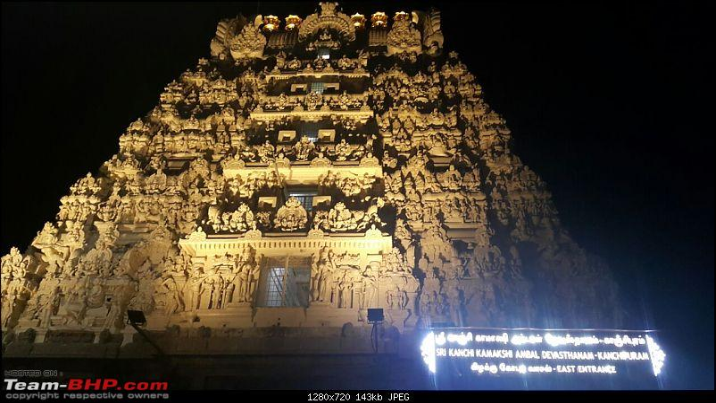 2017 year-ending family trip : Bangalore to Vellore, Mahabalipuram & Kanchipuram-kamakshi_amman_temple_night.jpeg