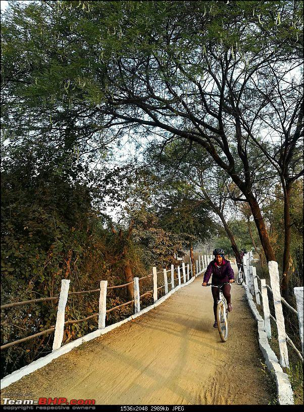 Cycling on a Sunday morning! Pala-Pitta Cycling Track, Hyderabad-wife.jpeg