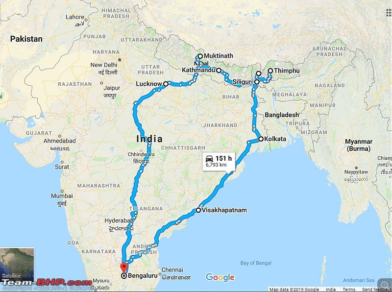 Bangalore to Bhutan & Nepal | Solo | 9,000 km of Adventure on a KTM Duke-ride-map-2108-december.jpg