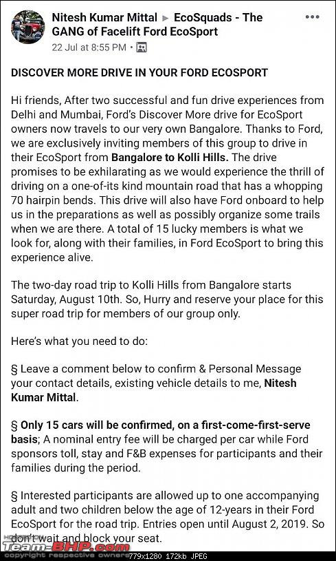 A crazy fun-filled drive by Ford for Bangalore EcoSport Owners @ Kolli Hills : 10th & 11th Aug, 2019-01_fb_content.jpg