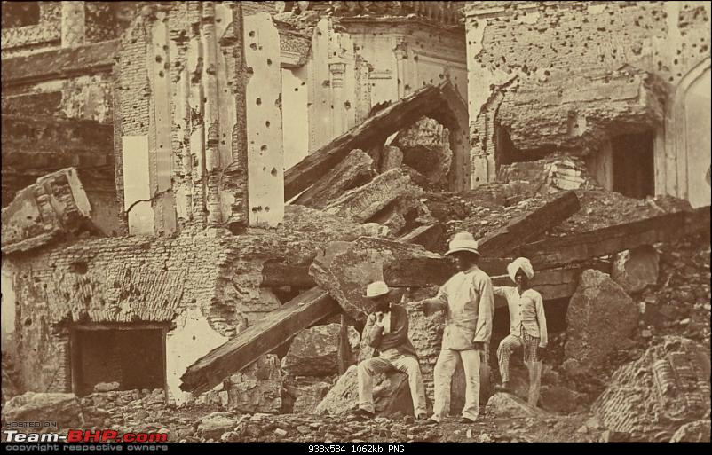 Varsai to Kashi on foot : 1857-59-exploded-mine-chattar-manzil.png