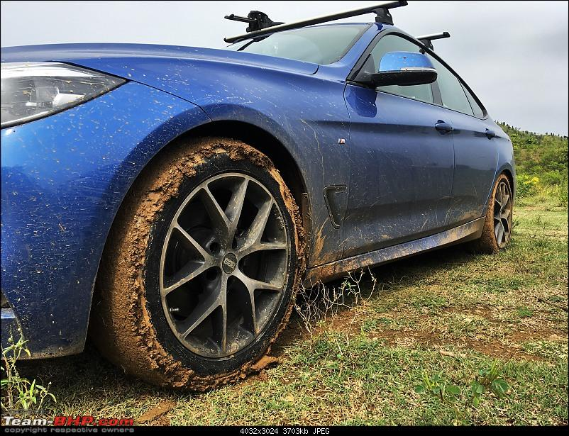 Holiges, a Coracle and a Banyan Tree - Weekend Drive to Shimoga-bmw-post-puddle-splash.jpg