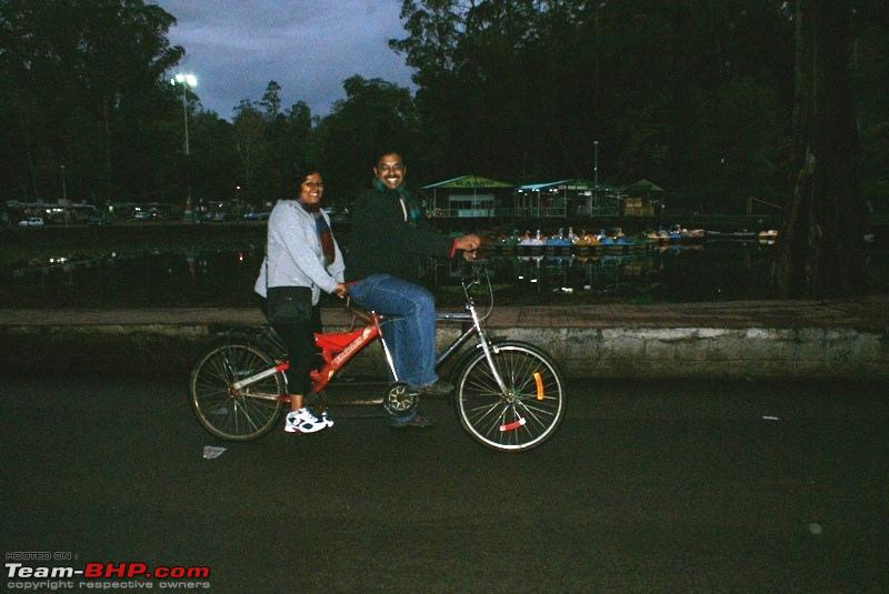 Name:  b Kodai Lake_cycling on a Tandem.JPG