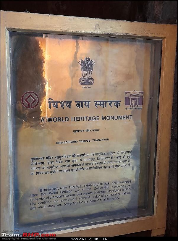 Baloo & I: Reset at an Ashram, and drive into the glorious past of the Chola empire-part3-pic11-unesco-plaque.jpg