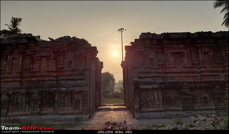 Baloo & I: Reset at an Ashram, and drive into the glorious past of the Chola empire-part5-pic3-sun-rise-over-entrance-ruins.jpg