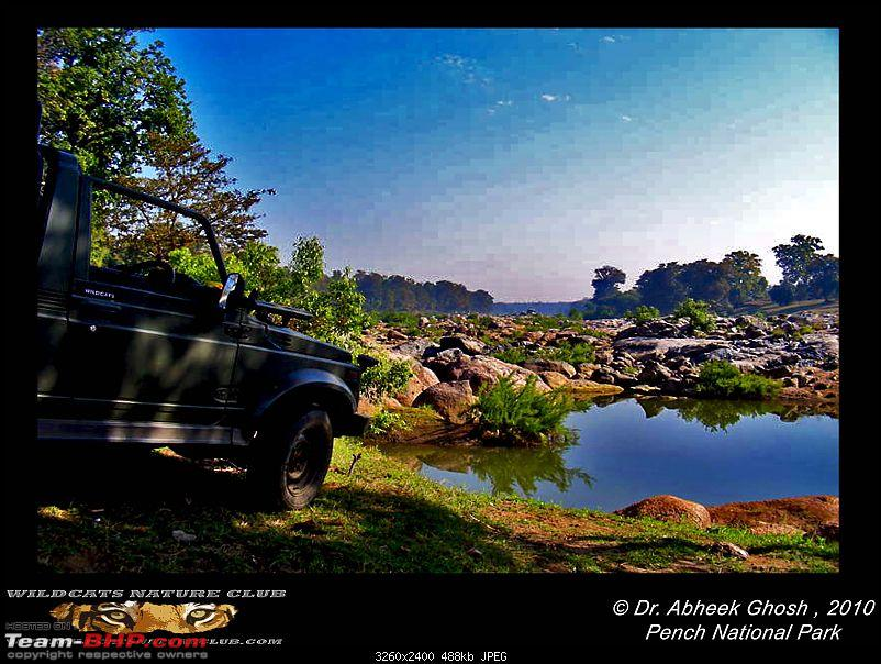 Tadoba, Pench forests, wildlife and 4 tigers!-gypsy-pench-river.jpg