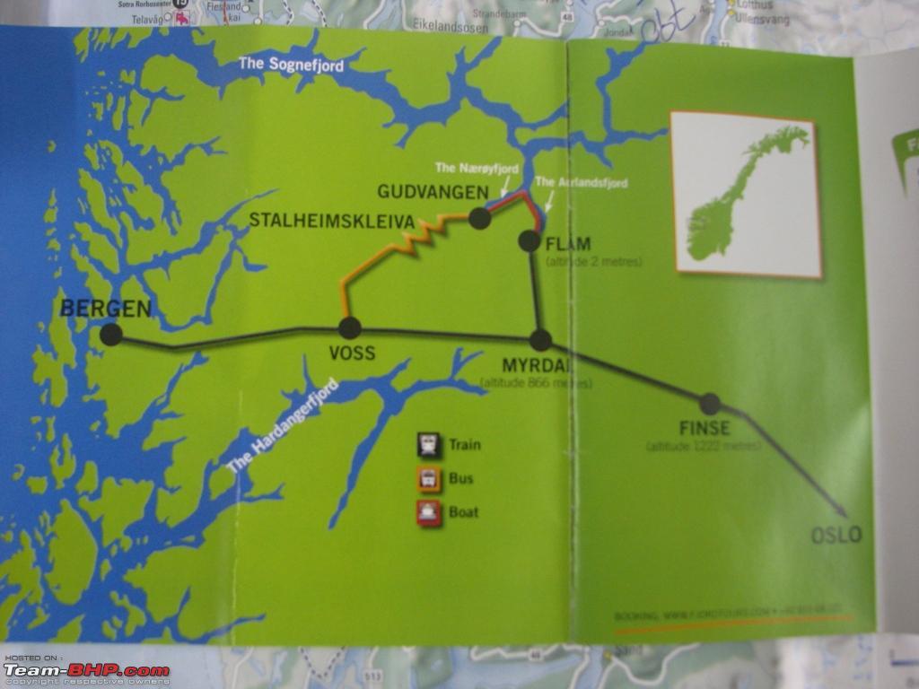 Norway In Nutshell Fjord Tour TeamBHP - Norway nutshell map