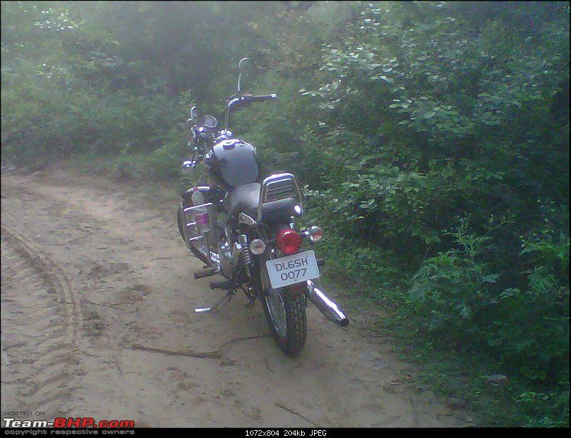 2 New Bulls & 2 new riders on an off roading trip to Bhondsi - with Pics-img00577201107020740.jpg