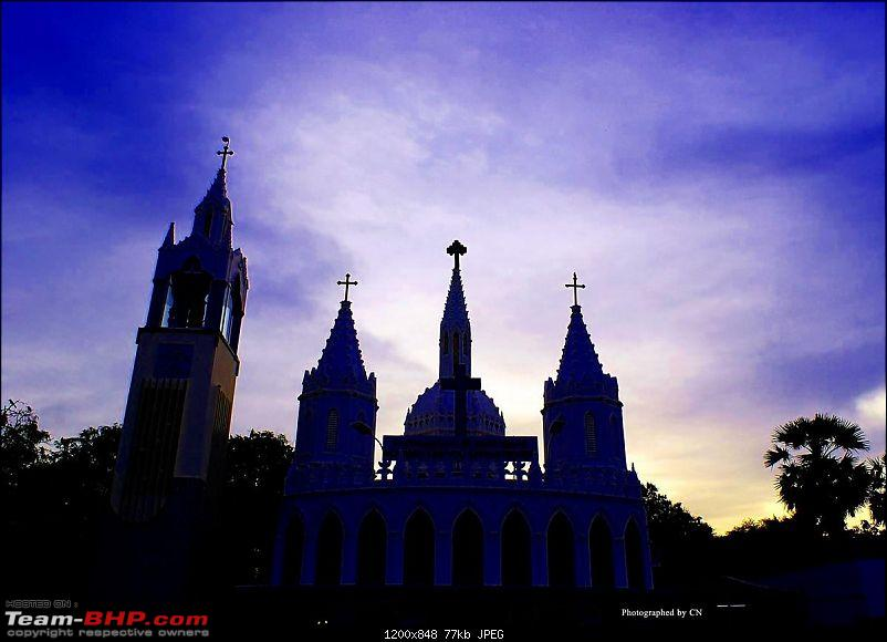 An Incredible Roadtrip to Trivandrum, Velankanni and Mesmerizing Munnar!-8-shrine_of_our_ladys_tank-beautiful_in_the_evening.jpg