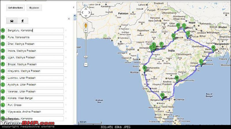Fauji's Drivologues - Fascinating Fortnight in Madhya Pradesh and Uttar Pradesh-google-map-ver-3.jpg