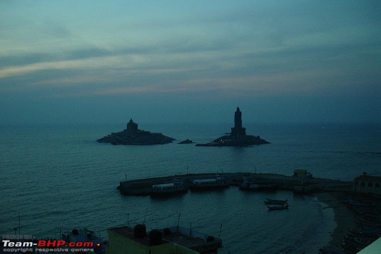 Name:  6.Dawnvivekananda rocktiruvalluvar statue and ferry station.JPG