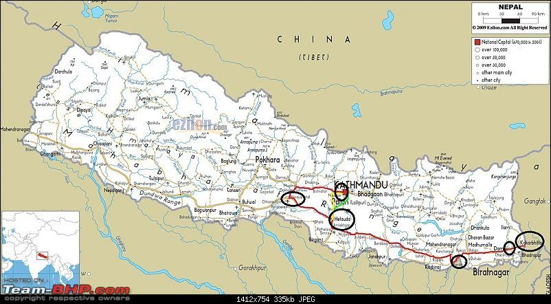 Self driven road trip, Siliguri (W.B) to Kathmandu (Nepal)-nepalroadmap1abc.jpg