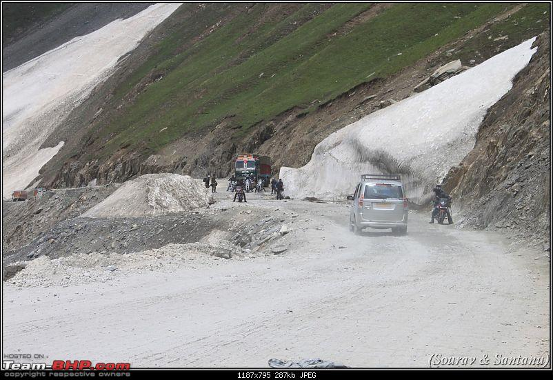 A journey through Leh & Ladakh � Barren beauty at its best-172-bikers-zojilla-pass.jpg