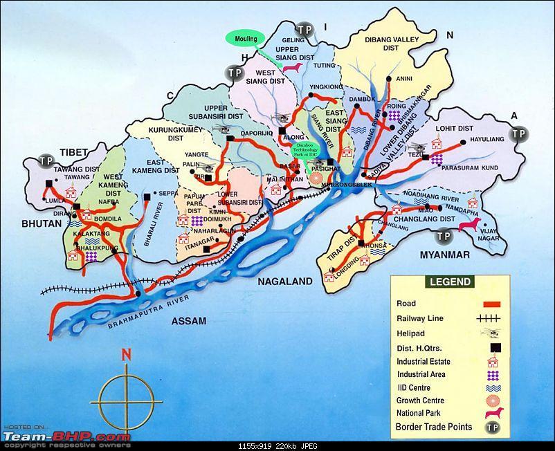Safari 2.2 VTT-TMT -4500 km self-drive Central Arunachal exploratory expedition, 2012-maparunachal.jpg
