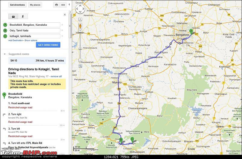 Queen, here we come with our Prince & Princess - Trip to Ooty-googlemaps1.jpg