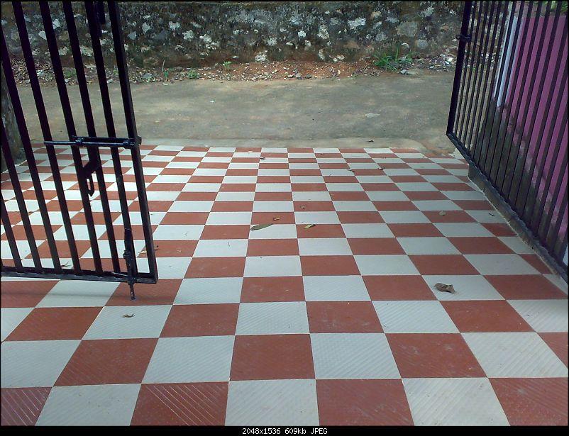 No tyre grip on floor tiles team bhp for Exterior floor tiles design kerala