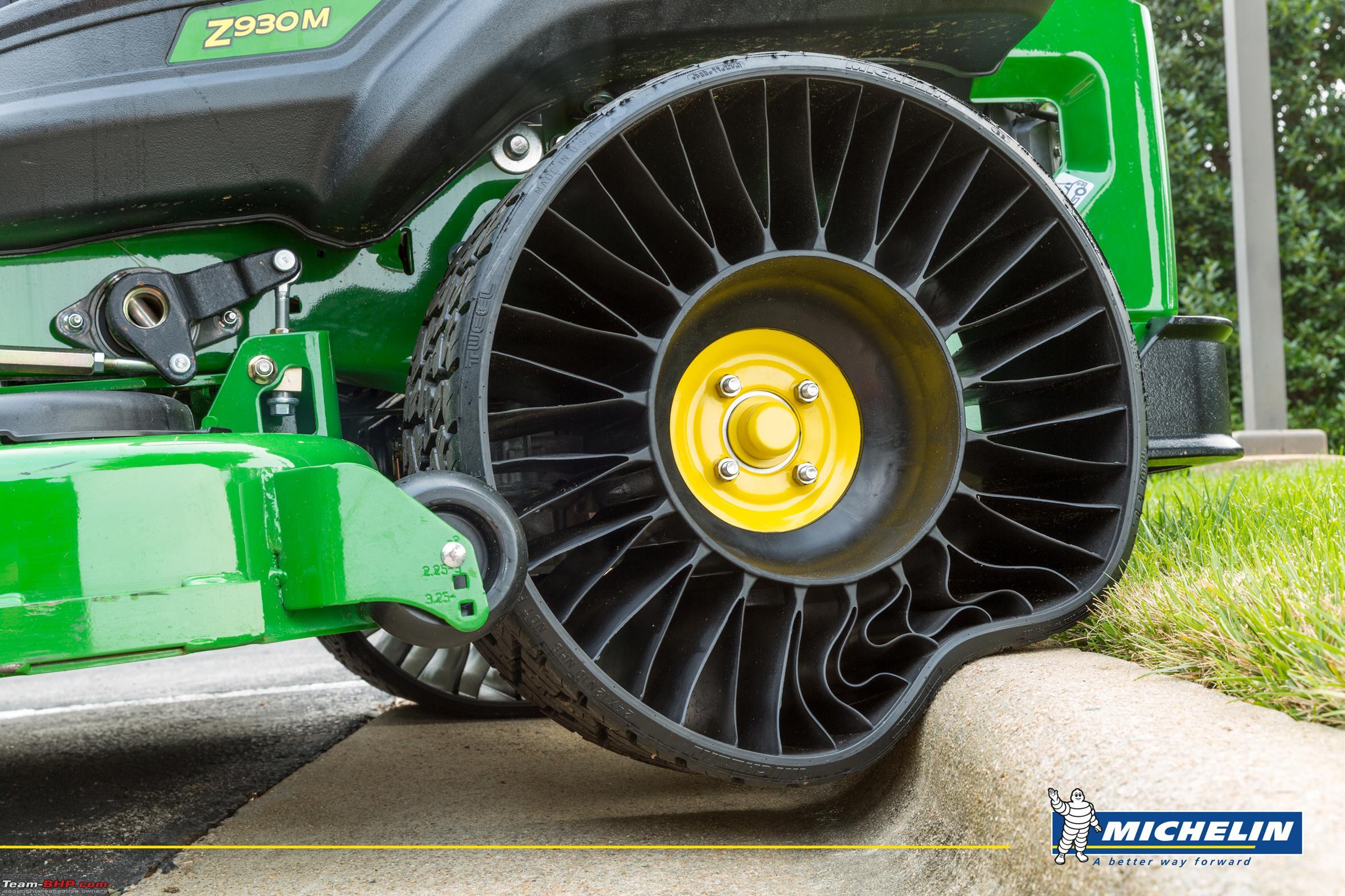 Michelin begins tweel airless tyre production michelin_x_tweel_turf_print jpg