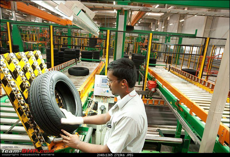 PICS: Apollo Tyres Chennai Factory. Detailed report on the making of a Tyre-manual-inspection.jpg