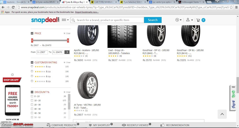 vento tyre price