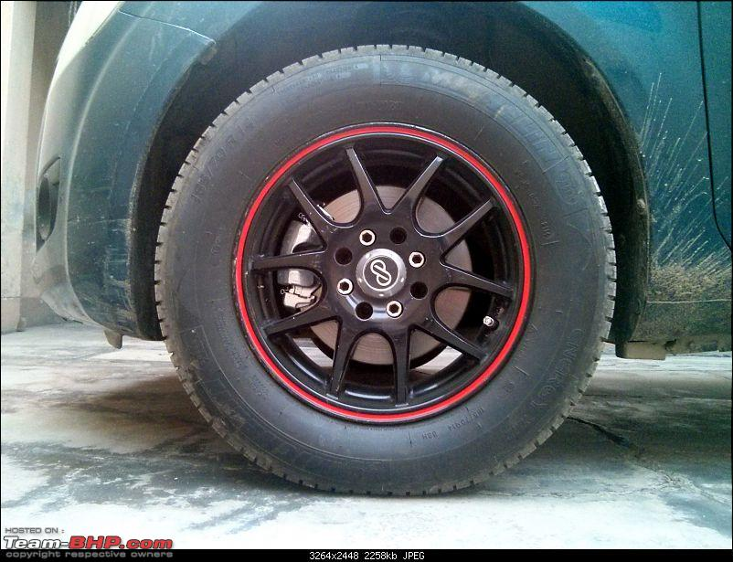 Maruti Ritz: My wheel & tyre upgrades - settled down after 4th set of rims-23.jpg