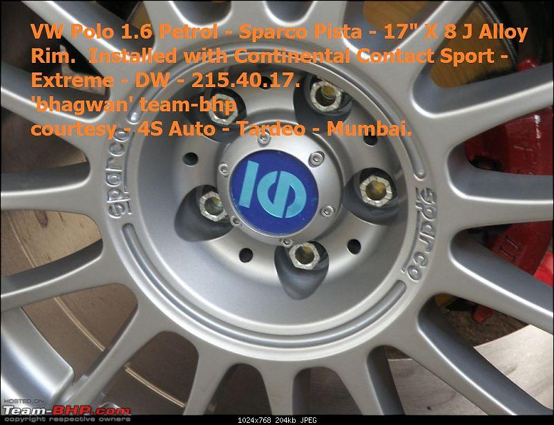 """VW Polo 1.6 Petrol - 17"""" Alloys - 5 hole 100 PCD - Sparco Pista X 8J-sparco-pista-alloy-conti-contact-sport-extreme-dw-march-2011.jpg-1.jpg"""