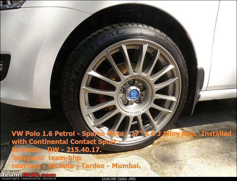 """VW Polo 1.6 Petrol - 17"""" Alloys - 5 hole 100 PCD - Sparco Pista X 8J-sparco-pista-alloy-conti-contact-sport-extreme-dw-march-2011.jpg-2.jpg"""